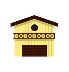 barn for animals icon flat style vector image