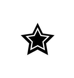 black star web mobile icon silhouette sign flat vector image vector image