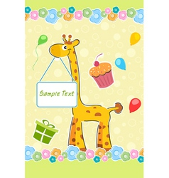 childs birthday card vector image
