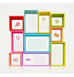 Colorful Shelves vector image vector image