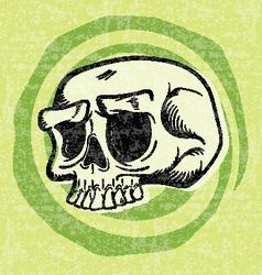 Retro Halloween Skull vector image vector image