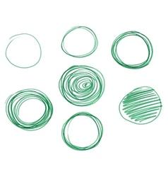 Set of Hand drawn circles logo design vector image vector image