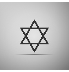 Star of David icon on grey background vector image vector image