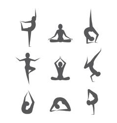 Yoga poses vector image