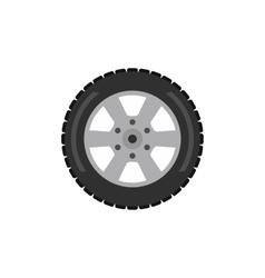 Automobile flat wheel icon vector
