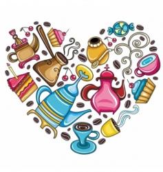 coffee lover scene vector image vector image