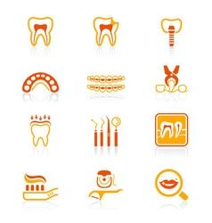 Dental set - JUICY series vector image vector image