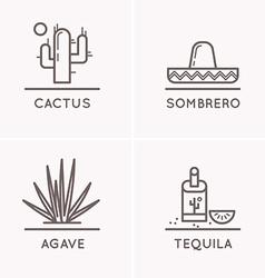 Mexico culture set 1 vector image vector image