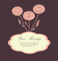 rosecard vector image