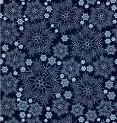 Snowflake background seamless vector image