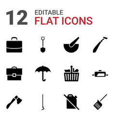 12 handle icons vector