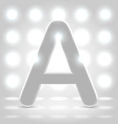 A over lighted background vector