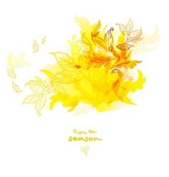Abstract autumn design vector image