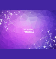 abstract purple polygonal space background vector image