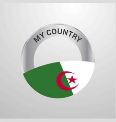alegeria my country flag badge vector image