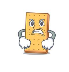 angry graham cookies mascot cartoon vector image