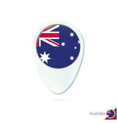 Australia flag location map pin icon on white vector