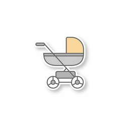 baby carriage patch vector image