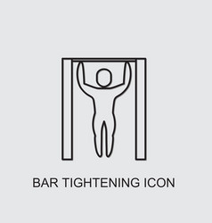 Bar tightening icon vector