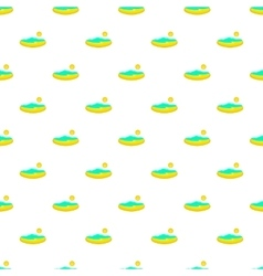 Beach and sun pattern cartoon style vector