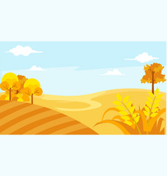 beautiful landscape with blue sky at summer season vector image