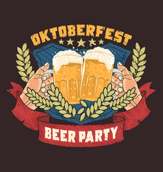 beer party oktoberfest artwork vector image