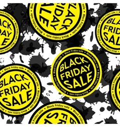 Black Friday Sale blot seamless background vector image