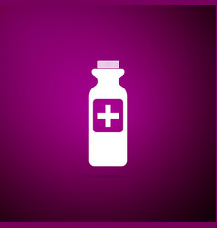 bottle with medical pills icon tablets symbol vector image