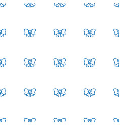 bow icon pattern seamless white background vector image