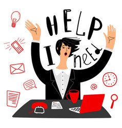 business needs help businesswoman or vector image