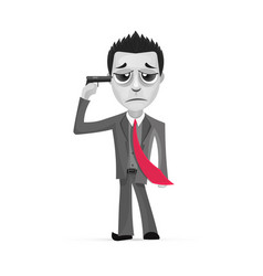 Businessman committing suicide vector