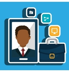 Businesspeople isolated icon design vector