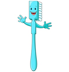 Cartoon Toothbrush Character vector image