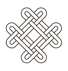Celtic knot geometric ancient cross tribal vector