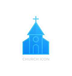 church catholic monastery icon on white vector image