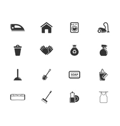 Cleaning service simply icons vector image