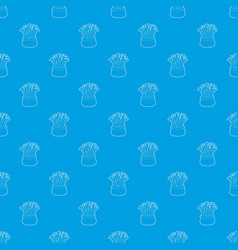 coral pattern seamless blue vector image