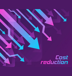 Cost reduction concept vector