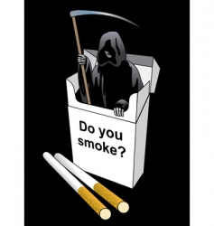 death inside a cigarette pack vector image