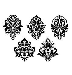 Decorative floral elements set vector image