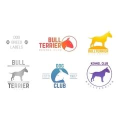 Design logotypes labels set bill terrier god vector