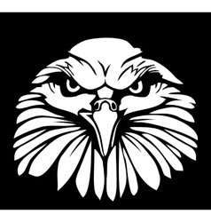 Eagle isolated on black background Flat vector