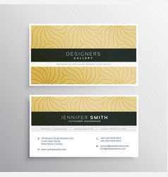 Elegant business card template with abstract vector