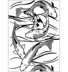 Fish under water vector image