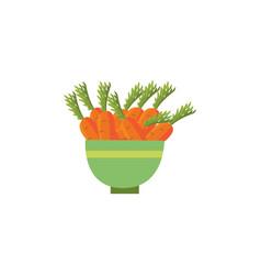 flat carrot in ceramic pot icon vector image