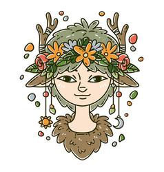 forest spirit girl vector image
