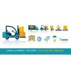 Freight cargo delivery vector