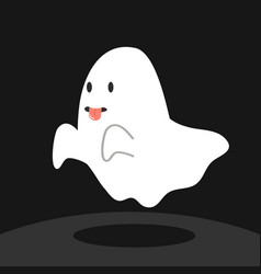 Ghost with tongue vector