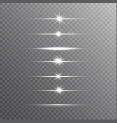 glowing line set on transparent background shine vector image
