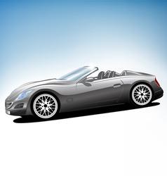 Grey sport car vector